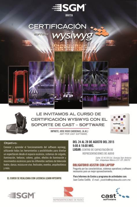 SGM & WYSIWYG Training Seminar in Mexico City (Aug. 2015)